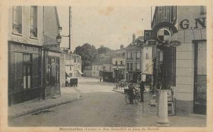 """/ CPA FRANCE 45 """"Malesherbes, rue Saint Eloi et place du Martroi"""""""