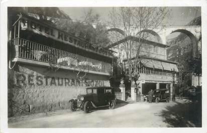 """/ CPSM FRANCE 06 """"Les Gorges du Loup, hôtel restaurant Dozol"""" / AUTOMOBILE"""