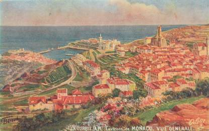 """/ CPA FRANCE 06 """"La Turbie, vue générale, environs de Monaco"""" / TUCK"""