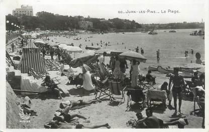 """/ CPSM FRANCE 06 """"Juan Les Pins, la plage"""""""
