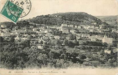 """/ CPA FRANCE 06 """"Grasse, vue vers le Boulevard Saint François"""""""