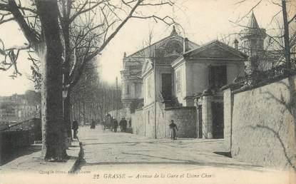 """/ CPA FRANCE 06 """"Grasse, avenue de la Gare et usine Chiris"""""""