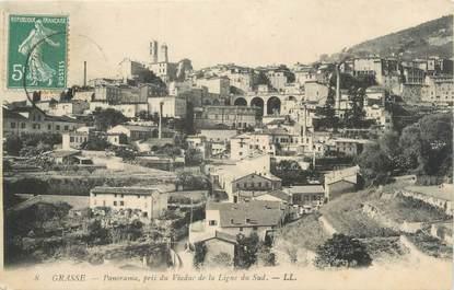 "/ CPA FRANCE 06 ""Grasse, panorama pris du Viaduc"""