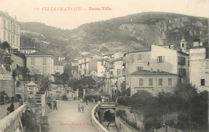 "/ CPA FRANCE 06 ""Villefranche, basse ville"""
