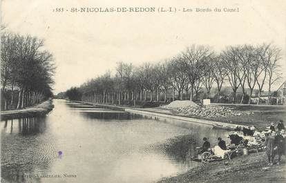 """/ CPA FRANCE 44 """"Saint Nicolas de Redon, les bords du canal"""""""