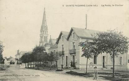 """/ CPA FRANCE 44 """"Sainte Pazanne, la poste, le clocher"""""""