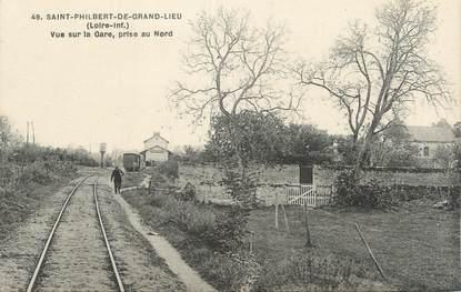 """/ CPA FRANCE 44 """"Saint Philbert de Grand Lieu, vue sur la gare"""""""