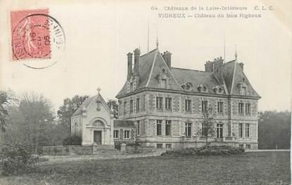"""/ CPA FRANCE 44 """"Vigneux, château du Bois Rignoux"""""""