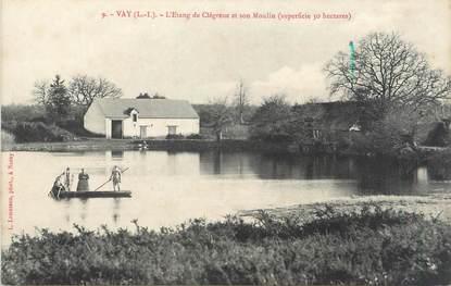 "/ CPA FRANCE 44 ""Vay, l'étang de Clégreuc et son moulin"""