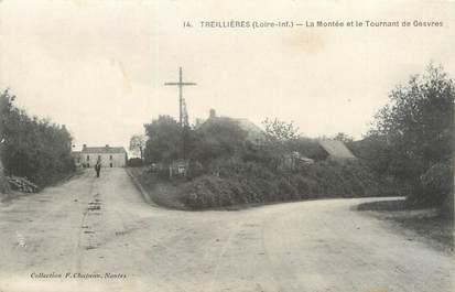 """/ CPA FRANCE 44 """"Treillières, la montée et le tournant de Gesvres"""""""