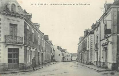 """/ CPA FRANCE 44 """"Plessé, route de Guenrouet et de Saint Gildas"""""""