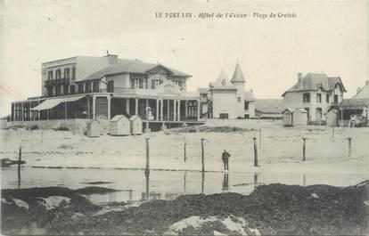 """/ CPA FRANCE 44 """"Le port Lin, hôtel de l'Océan, plage du Croisic"""""""