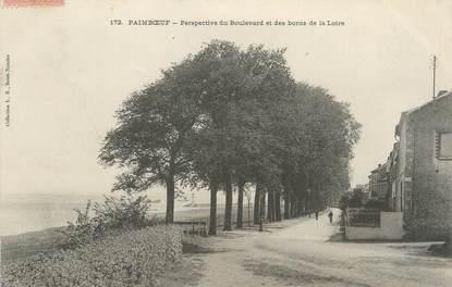 """/ CPA FRANCE 44 """"Paimboeuf, perspective du boulevard et des bords de la Loire"""""""