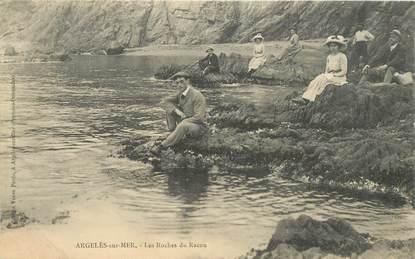 """CPA FRANCE 66 """"Argelès sur Mer, les Rochers du Racou"""""""