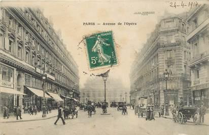 """CPA FRANCE 75002 """"Paris, avenue de l'Opéra"""""""