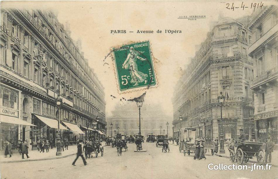 Cpa france 75002 paris avenue de l 39 op ra 75 paris 2 eme arrondissement 75002 ref - Bureau de change avenue de l opera ...