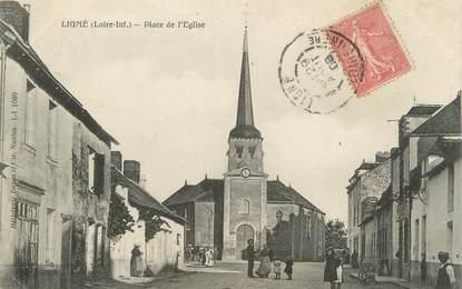 """/ CPA FRANCE 44 """"Ligné, place de l'église"""""""