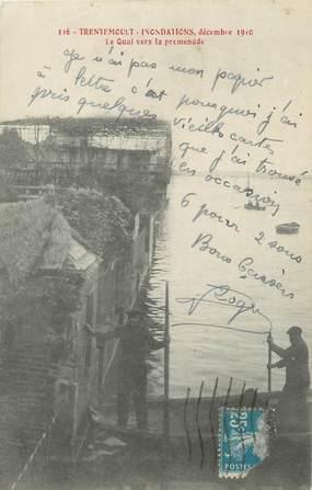 "/ CPA FRANCE 44 ""Trentemoult, le quai vers la promenade"" / INONDATIONS"