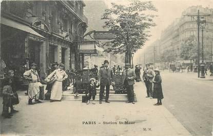 """CPA FRANCE 75013 """"Paris, station de métro Saint Maur"""""""