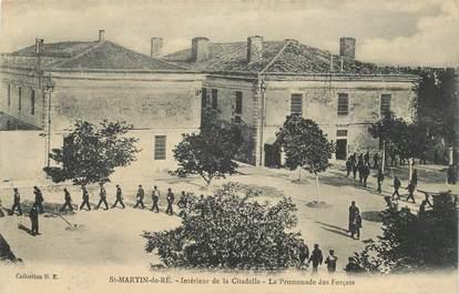 """CPA FRANCE 17""""Saint Martin de Ré, la promenade des Forçats"""" / JUSTICE PRISON"""