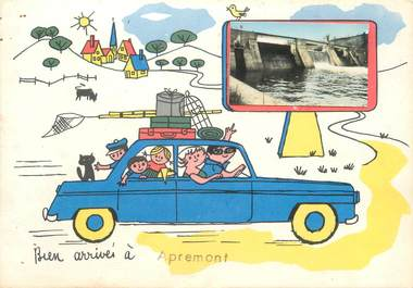 "/ CPSM FRANCE 08 ""Apremont"" / AUTOMOBILE"