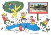 "08 Ardenne / CPSM FRANCE 08 ""Apremont"" / PECHE"