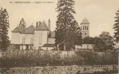 "CPA FRANCE 21 ""Ampilly le Sec, l'Eglise et le chateau"""