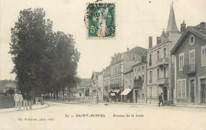 "/ CPA FRANCE 55 ""Saint Mihiel, avenue de la gare"""
