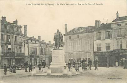 """/ CPA FRANCE 55 """"Ligny en Barrois, la place Nationale et statue du Général Barrois"""""""
