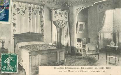"""CPA FRANCE 13 """"Exposition Internationale d'Electricité, Marseille 1908"""" / ART NOUVEAU"""