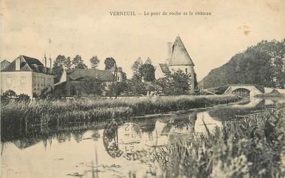 """/ CPA FRANCE 58 """"Verneuil, le pont de Roche et le château"""""""