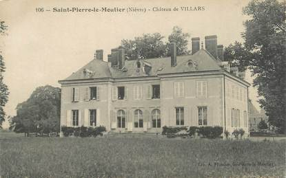 """/ CPA FRANCE 58 """"Saint Pierre le Moutier, château de Villars"""""""