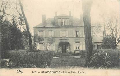"""/ CPA FRANCE 58 """"Saint Benin d'Azy, villa Amiot"""""""