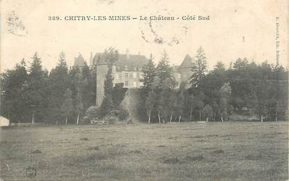 "/ CPA FRANCE 58 ""Chitry Les Mines, le château"""