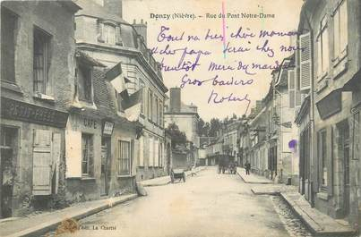 "/ CPA FRANCE 58 ""Donzy, rue du Pont Notre Dame"""
