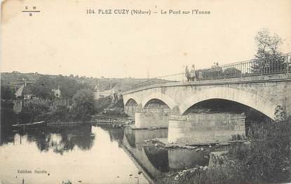 """/ CPA FRANCE 58 """"Flez Cuzy, le pont sur l'Yonne"""""""