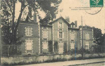 "/ CPA FRANCE 58 ""Fourchambault, château Bouchacourt"""