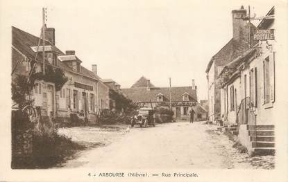 "/ CPA FRANCE 58 ""Arbouze, rue principale"" / USAGE TARDIF"