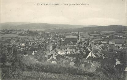 """/ CPA FRANCE 58 """"Château Chinon, vue prise du Calvaire"""""""