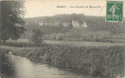 "/ CPA FRANCE 58 ""Surgy, les Roches de Basseville"""