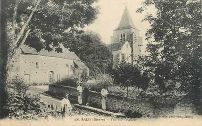 """/ CPA FRANCE 58 """"Saizy, vue sur l'église"""""""