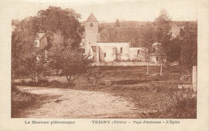 "/ CPA FRANCE 58 ""Teigny, l'église"""