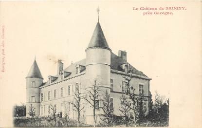 "/ CPA FRANCE 58 ""Le château de Saugny"""