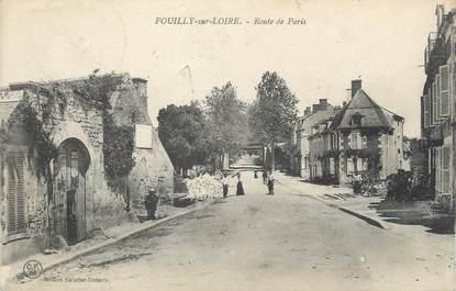 """/ CPA FRANCE 58 """"Pouilly sur Loire, route de Paris"""""""