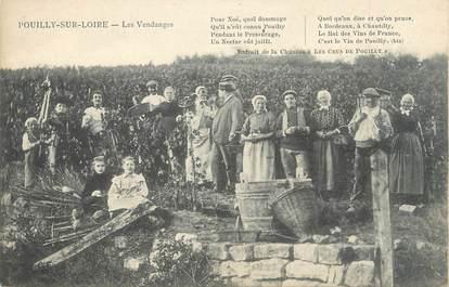 """/ CPA FRANCE 58 """"Pouilly sur Loire, les vendanges"""""""