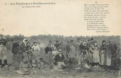 """/ CPA FRANCE 58 """"Pouilly sur Loire, les vendanges, le repos de midi"""""""