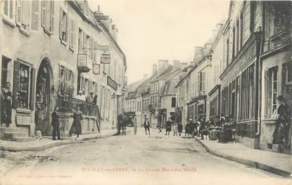 """/ CPA FRANCE 58 """"Pouilly sur Loire, les vendanges, la grande rue"""""""