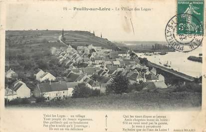 """/ CPA FRANCE 58 """"Pouilly sur Loire, les village des Loges"""""""