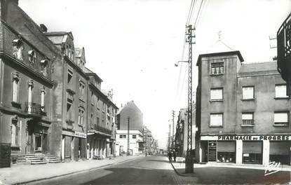 """/ CPSM FRANCE 57 """"Hagondance, rue de la gare"""""""