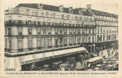 """/ CPA FRANCE 75009 """"Paris, Grand Hôtel Brébant et Beauséjour"""""""